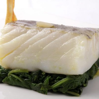 Bacalao confitado con ajo foodVAC