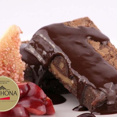 Chocolate brownie Valrhona sin gluten