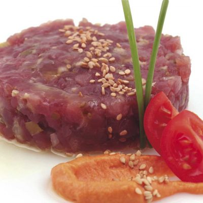 Tuna Tartare Sous Vide Fine Food for Haute Cuisine