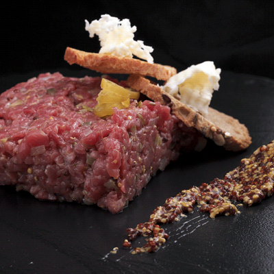 Steak Tartare Sous Vide Fine Food for Haute Cuisine
