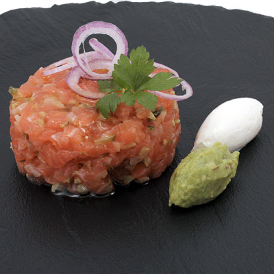 Salmon Tartare Sous Vide Fine Food for Haute Cuisine