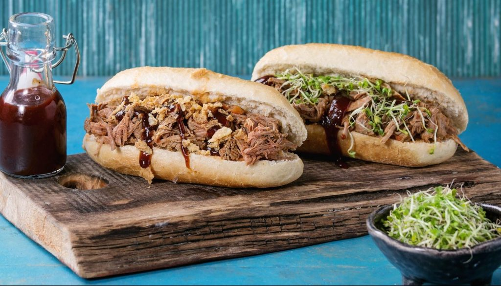 Hot dog de pulled pork - foodVAC