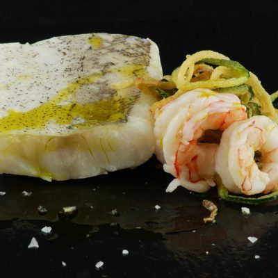 Confited hake Sous Vide Fine Food for Haute Cuisine