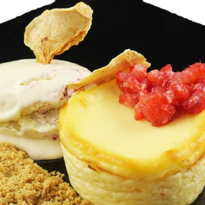 Gluten-free Cheesecake Sous Vide Fine Food for Haute Cuisine